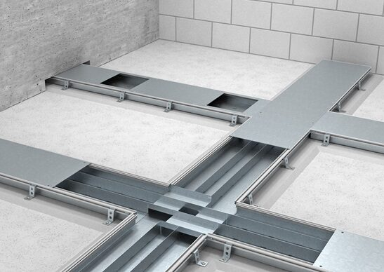 Open Flush Floor Trunking System Saw Engineering Pvt Ltd